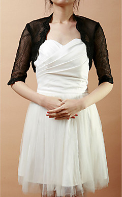 Half-Sleeve Lace & Net Wedding/Evening Jacket/Wrap (More Colors)