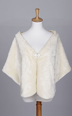 Elegant Faux Fur Wedding/Evening Shawl (More Colors)