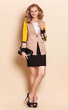TS Contrast Color Midi Basic Blazer