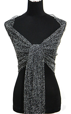 Polyester With Sequined Special Occasion Shawl (More Colors Available)
