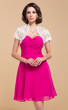Delicate Short Sleeves Lace Special Occasion Jacket/ Wedding Wrap (More Colors)