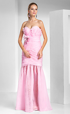 Trumpet/Mermaid Sweetheart Floor-length Organza Evening Dress