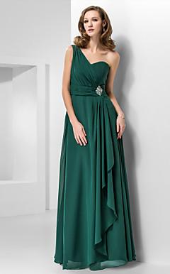Длиной до пола шифона вечернее платье