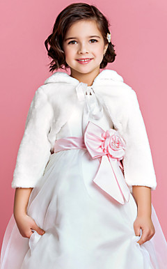 Flower Girl's Faux Fur Evening/Wedding Jacket/Wrap