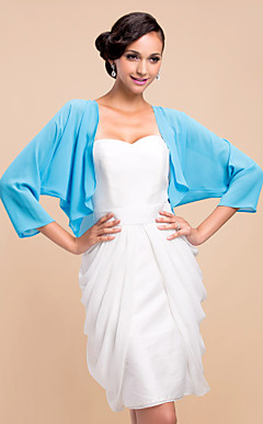 Nice 3/4 Sleeve Chiffon Evening/Wedding Wrap/Jacket (More Colors)