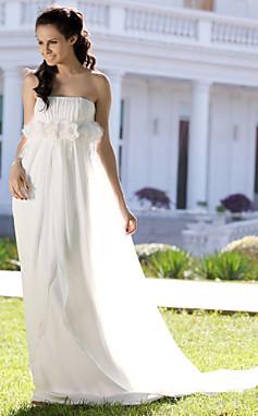 الجملة الجملة MICHELINA - فساتين زفاف 2012 (أبيض - وردي - عاجي - شمبانيا) شيفون