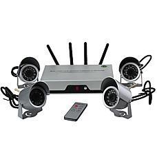 venta al por mayor 4-multiplexor de canales de vídeo integrado 2.4G receptor inalámbrico y una cámara con mando a distancia / tiempo real compatible con 4 fotos de panta