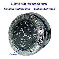 venta al por mayor hd 1280x960 estilo de reloj de grabadora de vídeo digital, el movimiento-activado, oculta cámara en color de alfiler (qw081)