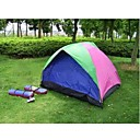 Three People Twin Size Tent+24 Round Portable Tent Light (HYYP208)(Start From 10 Units)