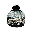 SAMII Jacquard Argyle Knit Beanie Hat-Black + Blue (0025) (Start From 20 Units)-Free Shipping