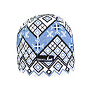 SAMII Jacquard Argyle Knit Beanie Skull Cap Hat-Blue (0012) (Start From 20 Units)-Free Shipping