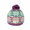SAMII Jacquard Argyle Knit Beanie Hat-Purple + Blue (0025) (Start From 20 Units)-Free Shipping