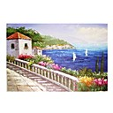 Handmade Landscape Art Oil Painting on Canvas With Wood Frame (DH-037) -Free Shipping