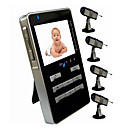 2.4GHz 4-channel Wireless Mobile AV Receiver,  2.5&quot; LCD  +  4 Baby Monitor Cameras(AF007)