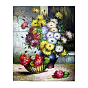 Handmade Flowers Art Oil Painting on Canvas With Wood Frame/High quality (GDH-147)-Free Shipping