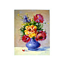 Handmade Flowers Art Oil Painting on Canvas With Wood Frame/High quality (GDH-152)-Free Shipping
