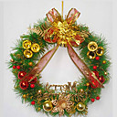 PVC 40CM Indoor Outdoor Christmas Fir Wreath (SDZS009)(Start From 50 Units)-Free Shipping