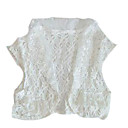 Crochet Bolero Short Sleeve Sweater (YFNS120) (Start From 10 Units)-Free Shipping