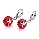 Fashion Citrine/Garnet Dangling &quot;X&quot; Earrings (ERS013-Garnet) (Start From 3 Units)