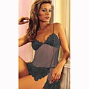 Intricate Venice and Sheer Baby Doll / GREY (LRB2053)