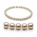 "White 8.5-9mm AAAA Freshwater Pearl Necklace 16""Length (DSZZ014) (Start From 3 Units) Free Shipping"
