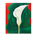 "Single Calla Lily by Georgia O'Keeffe 36"" x 24"" SZH011 (Start From 20 Units) Free Shipping"