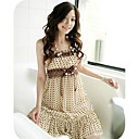 GIRLS Polka-Dot Belted Chiffon Dress Coffee (XJQZ010) (Start From 10 Units) Free Shipping