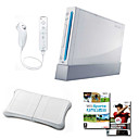Free Shipping! NintendoWii+ WiiFit +Wii Remote +4 Controllers-More (F) BY31