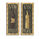 Hand-painted Red Wine White Wine Life Oil Painting with Stretched Frame