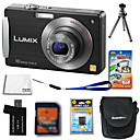 Panasonic Lumix DMC-fx520 (FX500) cmera digital 10.7mp + carto SD de 2GB + bateria extra + 6 bnus