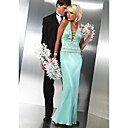 Column Halter Floor-length Satin Prom / Evening Dress (HSX256) (Start From 3 Units) Free Shipping