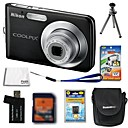 Nikon Coolpix S210 8.3MP Digital Camera + 2GB SD Card + Extra Battery + 6 Bonus