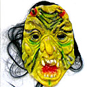 Scary Latex Devil Halloween Mask with Hair For Adult (SZWS030)