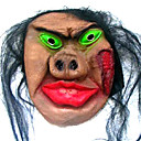 Scary Latex Halloween Mask with Hair For Adult (SZWS017)