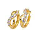 18K Stylish Dancing Cubic Zirconia Earring - CZ Earring SYX--0131 Clear (SZY431)