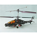 FREESHIPPING RC AH-64 Apache RTF 4 CH Electric Radio Remote Control Helicopter
