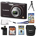 Panasonic Lumix DMC-FX38(FX37) 10.7MP Digital Camera with 2.5-inch LCD+4GB SD+Battery+6 Bonus SZW621