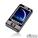 HaoSung N3000  Dual Card Quad Band Touch Screen TV Cell Phone Black&amp;Silver (SZR440)
