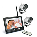 2.4GHZ 7-Inch Baby Monitor with 2x Night Vision Camera