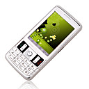 DAXIAN X328  Dual Card Tri-Band Analog TV  Touch Screen Cell Phone  Silver