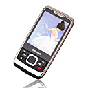 METOM M10 Dual Card Quad Band TV Function Cell Phone Black&Silver