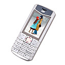 V8 Dual Card Luxury Metal Cell Phone Silver