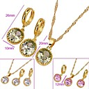 Beautiful Shining CZ Pendant And Earring Set-CZ Jewelry Set 90226-13 (SZY1559) 20pcs/Lot