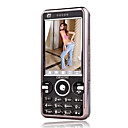 I18 Dual Card Quad Band TV Function Touch Screen Cell Phone Black