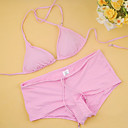 Free Shipping Hot Popular Pink Two Piece Bikini Swimwear Swimsuit (Start from 10 Units) (FT092)