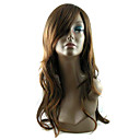 Capless Long Synthetic Coffee European Weave Hair Wig