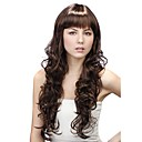 Capless Extra Long Synthetic Coffee Curly Hair Wig