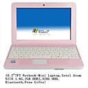 "mini-netbook-laptop 10,2 átomo ""TFT-N270 1.6G-1GB DDR2-320g presentes livre (smq2278)"