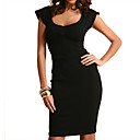 Structured Peplum Jersey Dress (09VQX007)