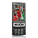 N95 Single Card Quad Band Dual Camera Bluetooth Soomth Unlock Flat Touch Screen Cell Phone Black (SZRHA001)